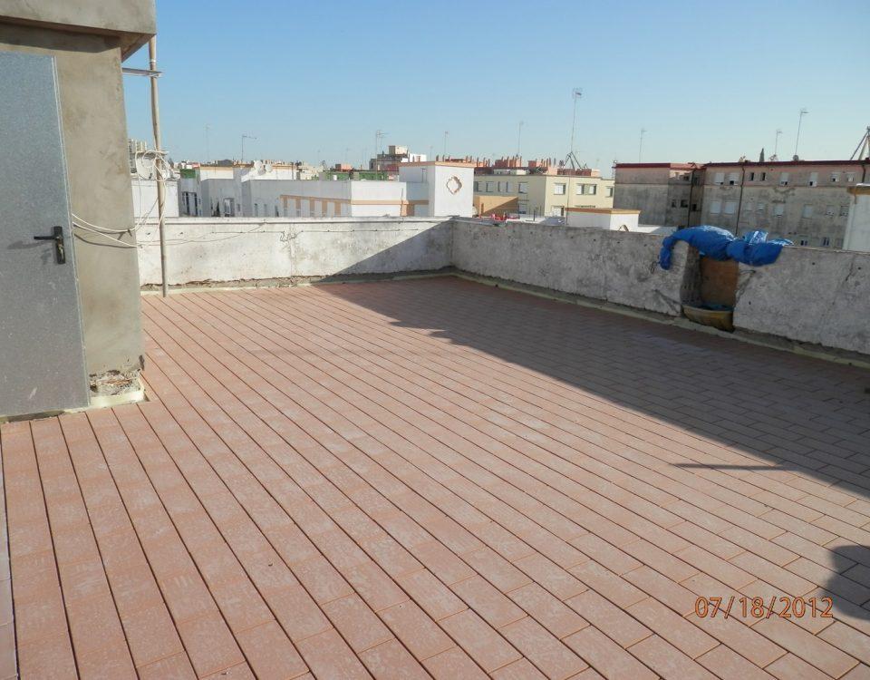 Sustitución de forjado y cubierta en edificio Vicente Alexandrei de Cádiz